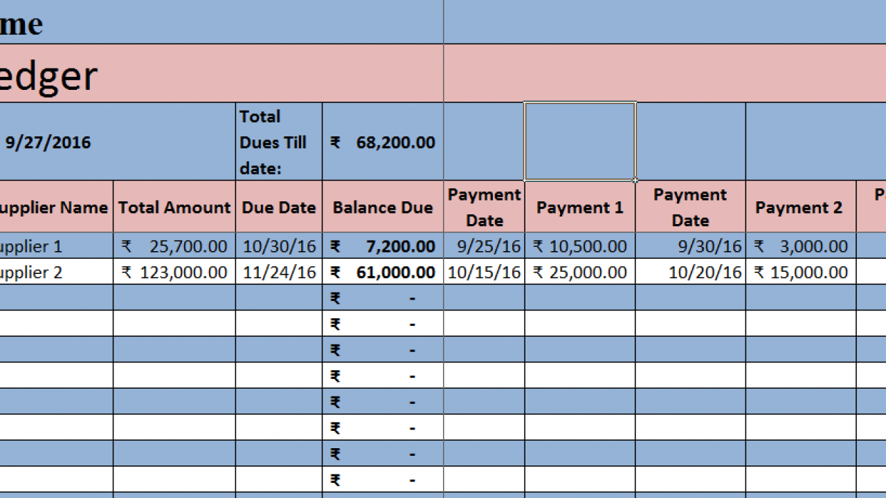 Account Payable Spreadsheet Template from exceldatapro.com