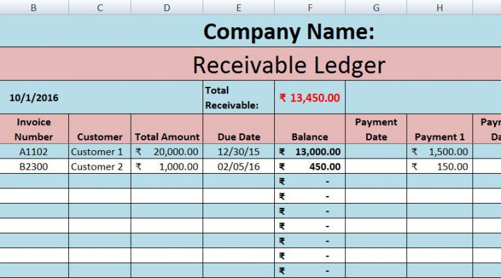 Download Free Accounts Receivable Template in MS Excel