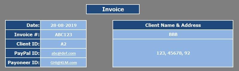 Download Invoice Excel Templates Exceldatapro