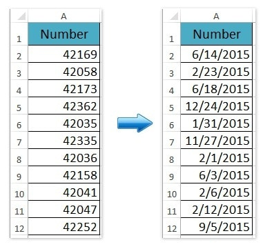 How to Change 5 Digit General Numbers to Date Format in Excel