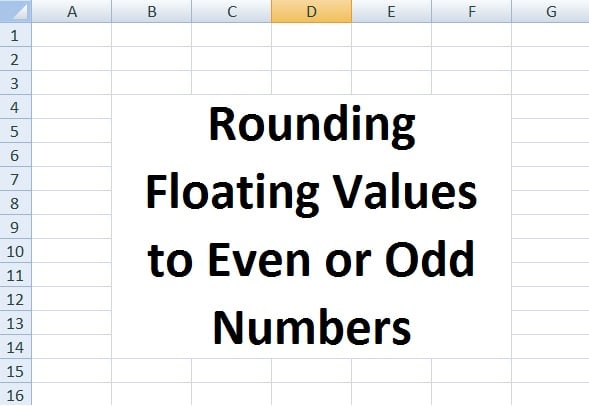 How to Round Floating Values to Even or Odd Numbers