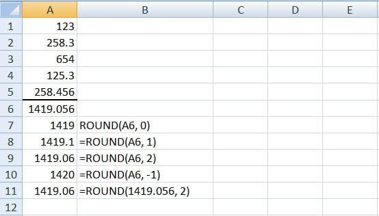 How to Round Up / Round Down Floating Numbers in Excel