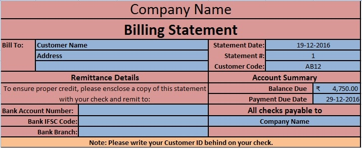 Doc.#: Remittance Template Excel – 12 Remittance Templates Excel