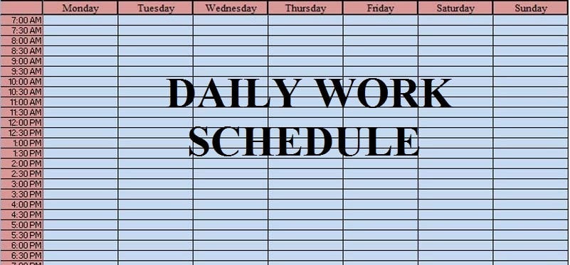 Excel Template Schedule from exceldatapro.com