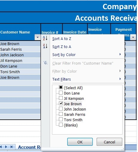 download accounts receivable with aging excel template exceldatapro. Black Bedroom Furniture Sets. Home Design Ideas