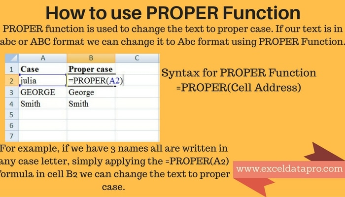 How To Use: PROPER Function