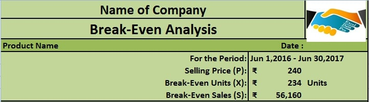 Download BreakEven Analysis Excel Template  Exceldatapro