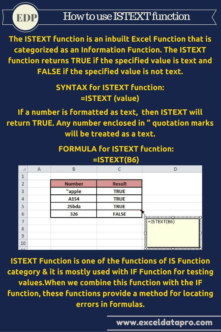 ISTEXT Function