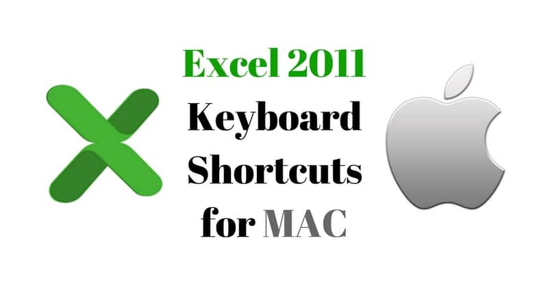 Microsoft Excel 2011 Keyboard Shortcuts for MAC - ExcelDataPro