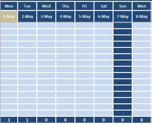 downloadable attendance sheet