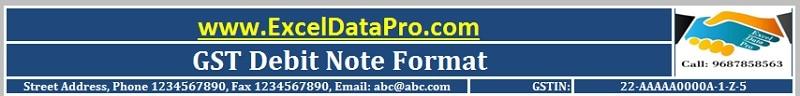 GST Debit Note Format