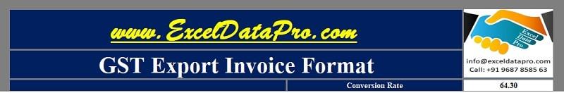 GST Export Invoice