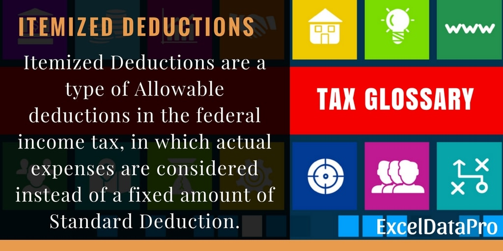What Are Itemized Deductions? - ExcelDataPro