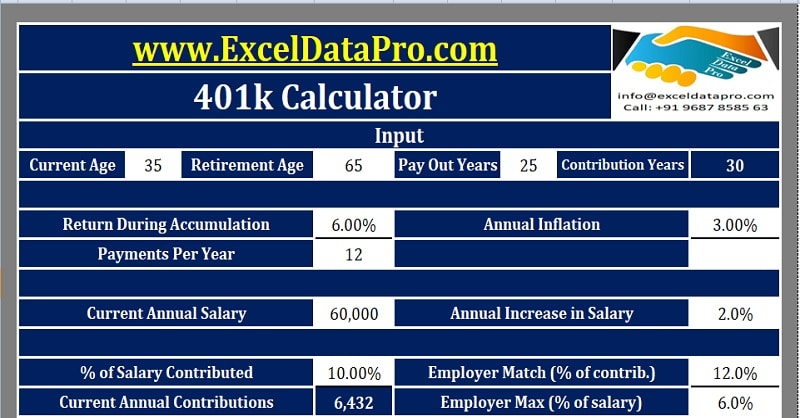 Download K Calculator Excel Template  Exceldatapro