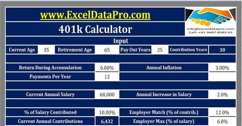 Download K Calculator Excel Template  Exceldatapro