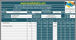 UAE VAT Dual Currency Invoice