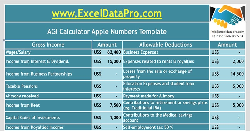 download agi calculator apple numbers template