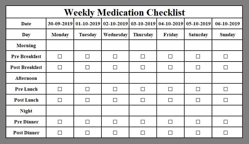 Download Medication Log Excel Template Exceldatapro