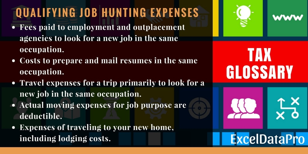 What Are Tax Deductible Job Hunting Expenses? - ExcelDataPro