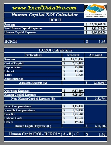 Human Capital ROI Calculator