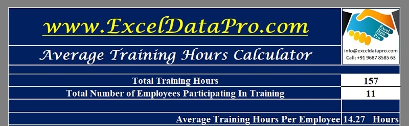 Download Average Training Hours Calculator Excel Template