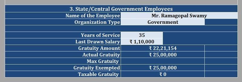 Taxable Gratuity Calculator