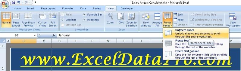Salary Arrears Calculator