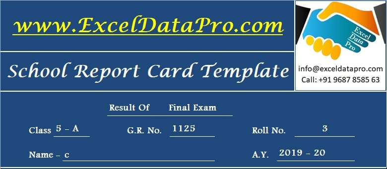 Report Card Header