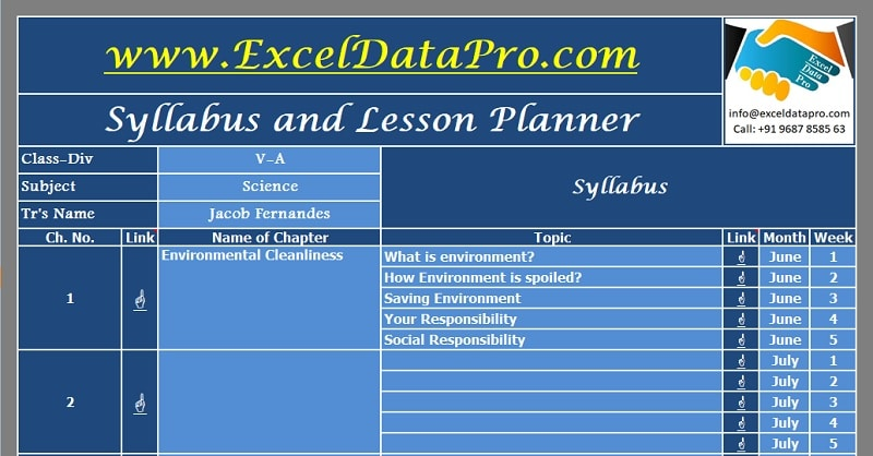 download syllabus and lesson planner excel template