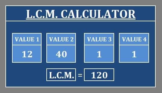 Download LCM Practice Worksheet Excel Template - ExcelDataPro