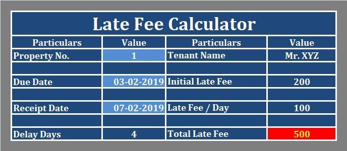 Late Fee Calculator