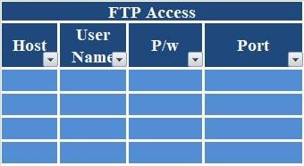 Website Hosting Register