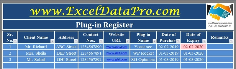 Plug-In Register