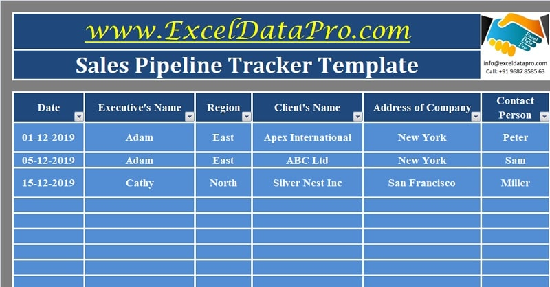 Download Sales Pipeline Tracker Excel Template