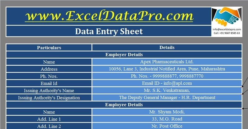 Download Employee Promotion Letter Excel Template