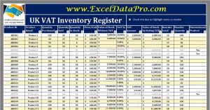 UK VAT Inventory Register